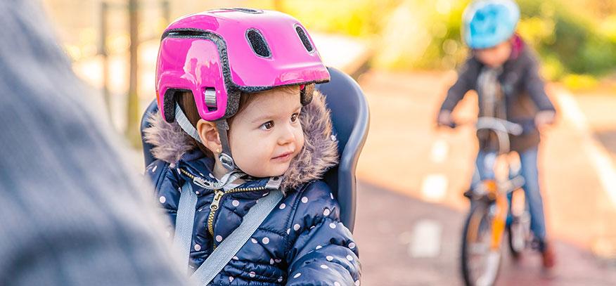Barn på cykelturen